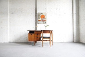 Floating desk by Hooker mid century modern mcm