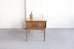 Mid century modern nightstand side table