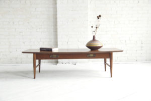 mid century modern surfboard coffee table by Lane furniture