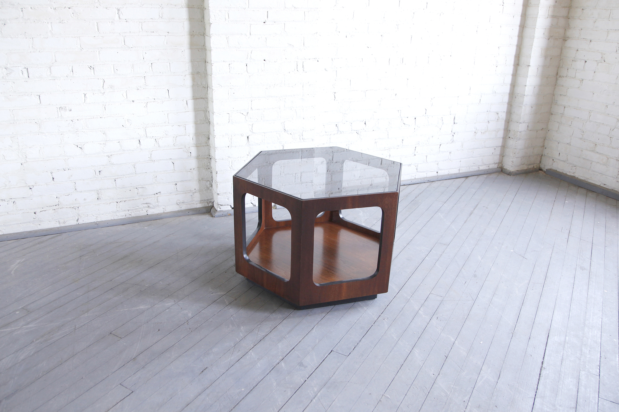 SOLD Mid Century Modern Hexagon Coffee Table By Lane Omasa Projects - Hexagon cocktail table