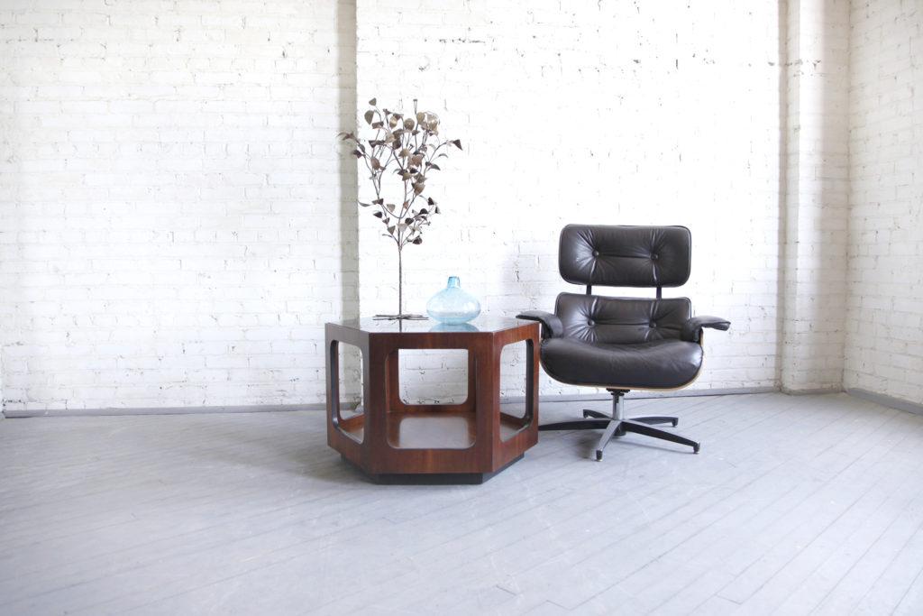 Mid century modern hexagon coffee table by Lane