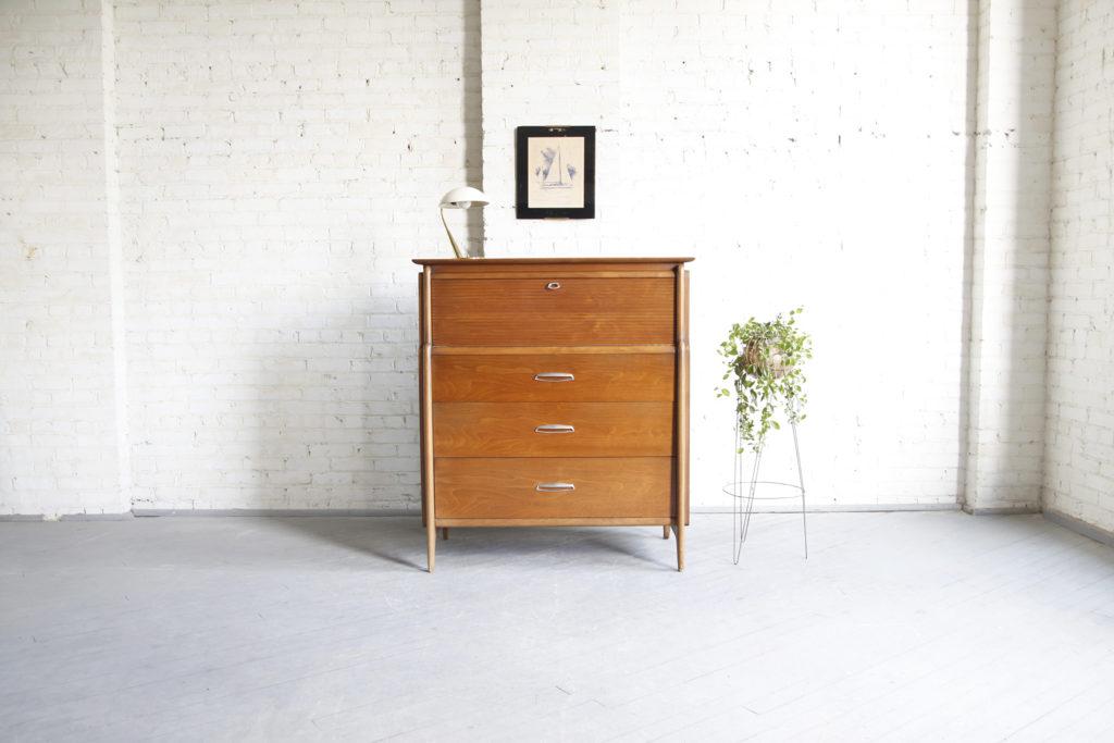 Mid century modern tallboy dresser by Drexel