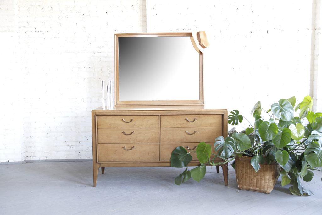 Mid century modern dresser with mirror by Century