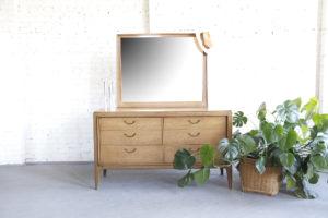 Mid century modern dresser with mirror by Century