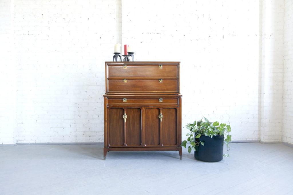 Mid century modern tall dresser by White furniture