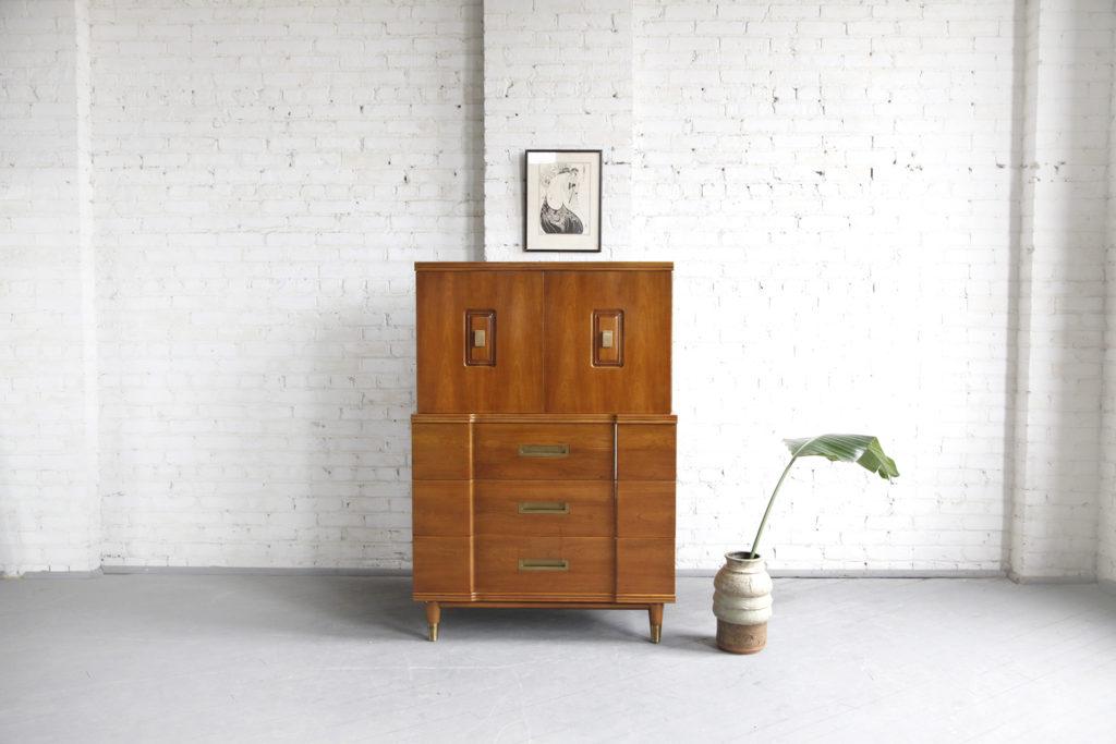 Midcentury modern tallboy dresser - John Widdicomb