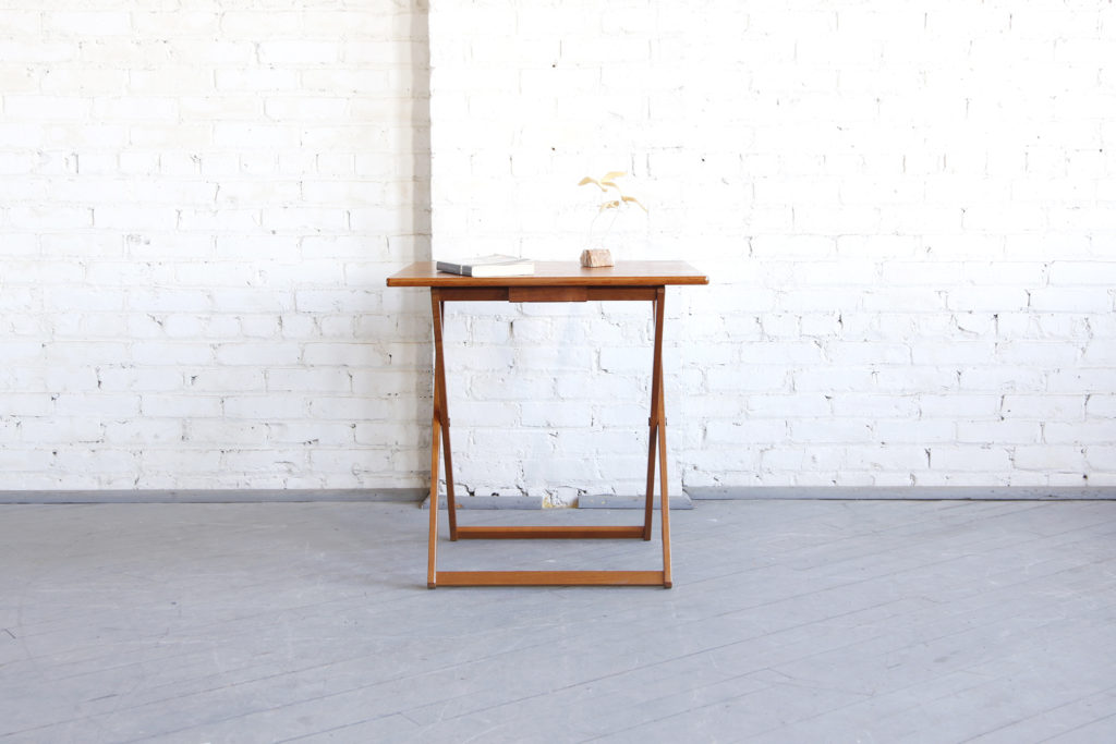 Mid century modern foldable table made in Denmark