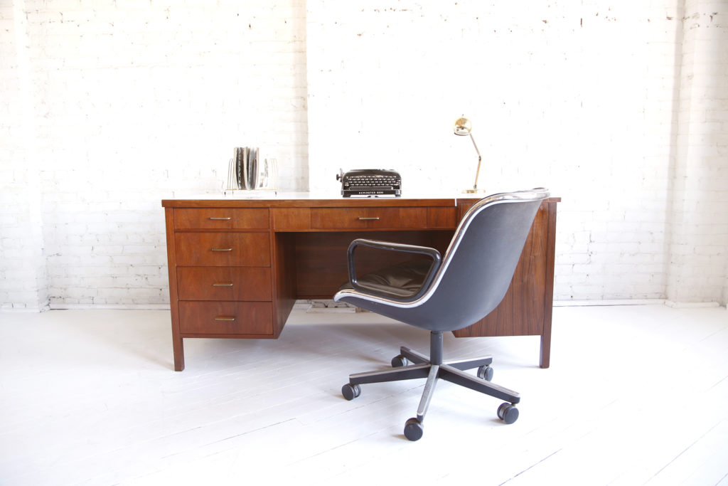 Mid century modern executive desk from 70's