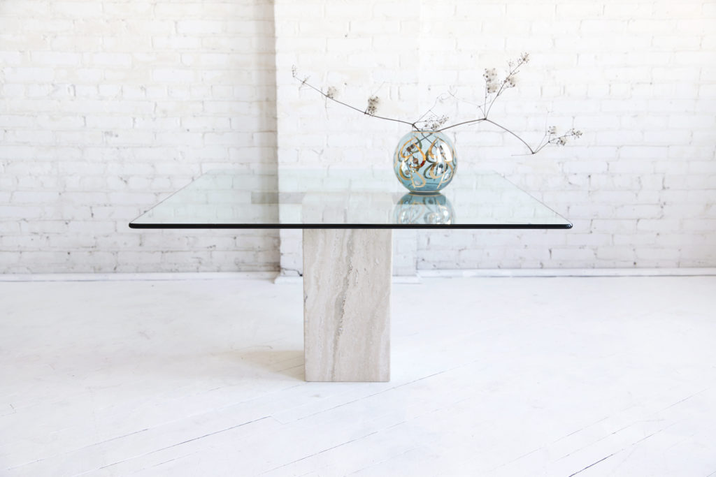 Midcentury modern Travertine coffee table