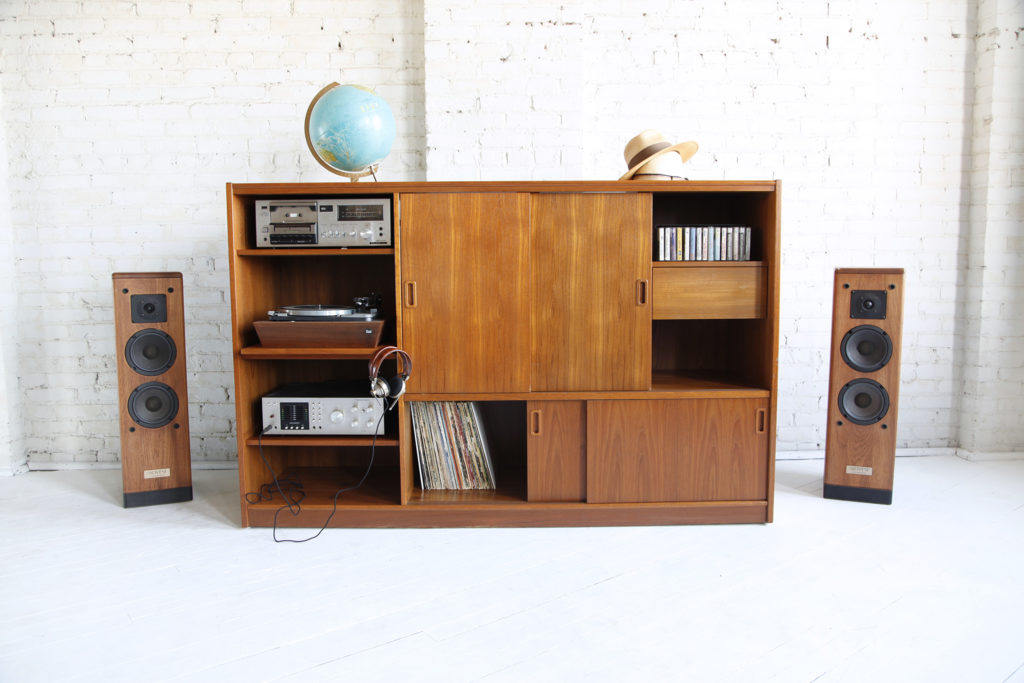 Mid century modern media center made in Denmark