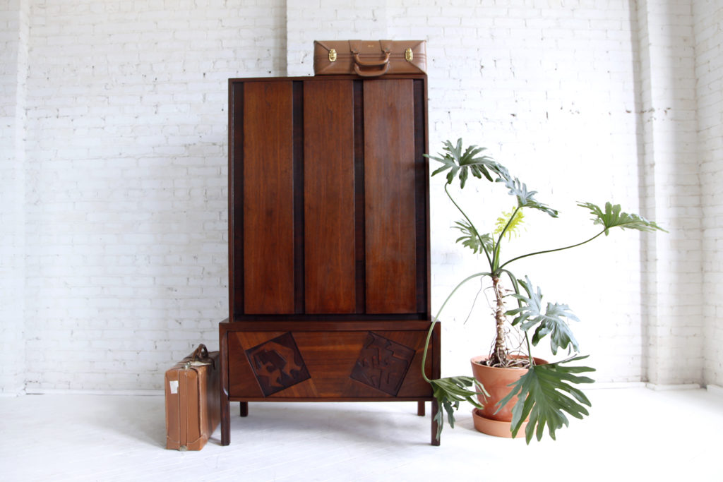 Midcentury modern brutalist armoire made in Canada