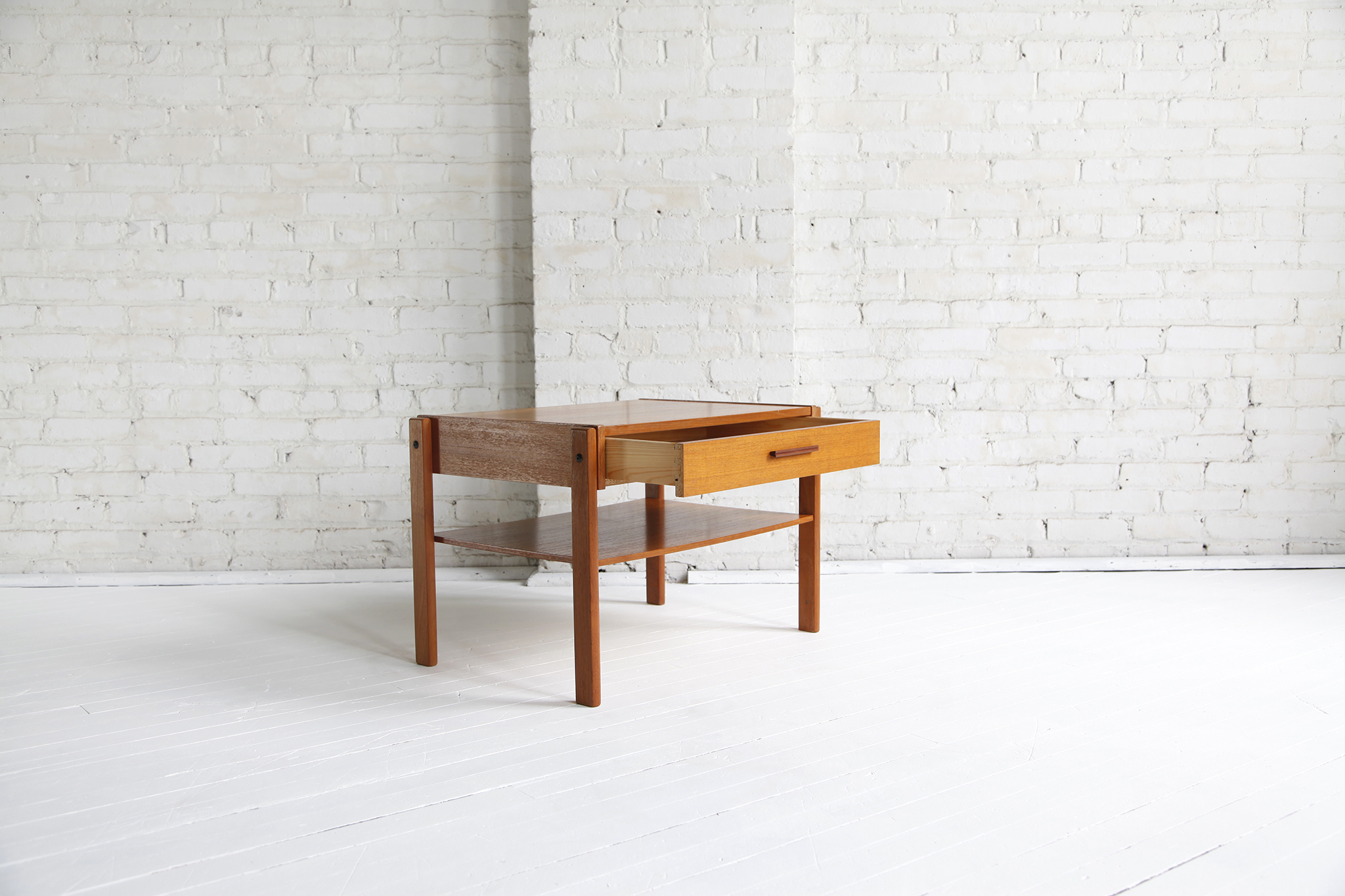Sold Mid Century Modern Small Danish Side Coffee Table