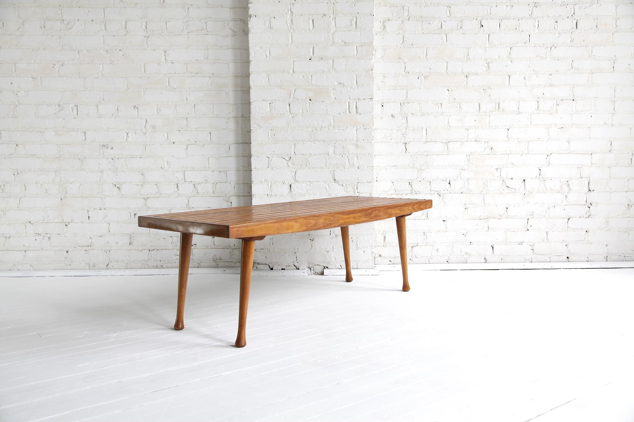 Mid Century Modern Slat Bench/coffee Table