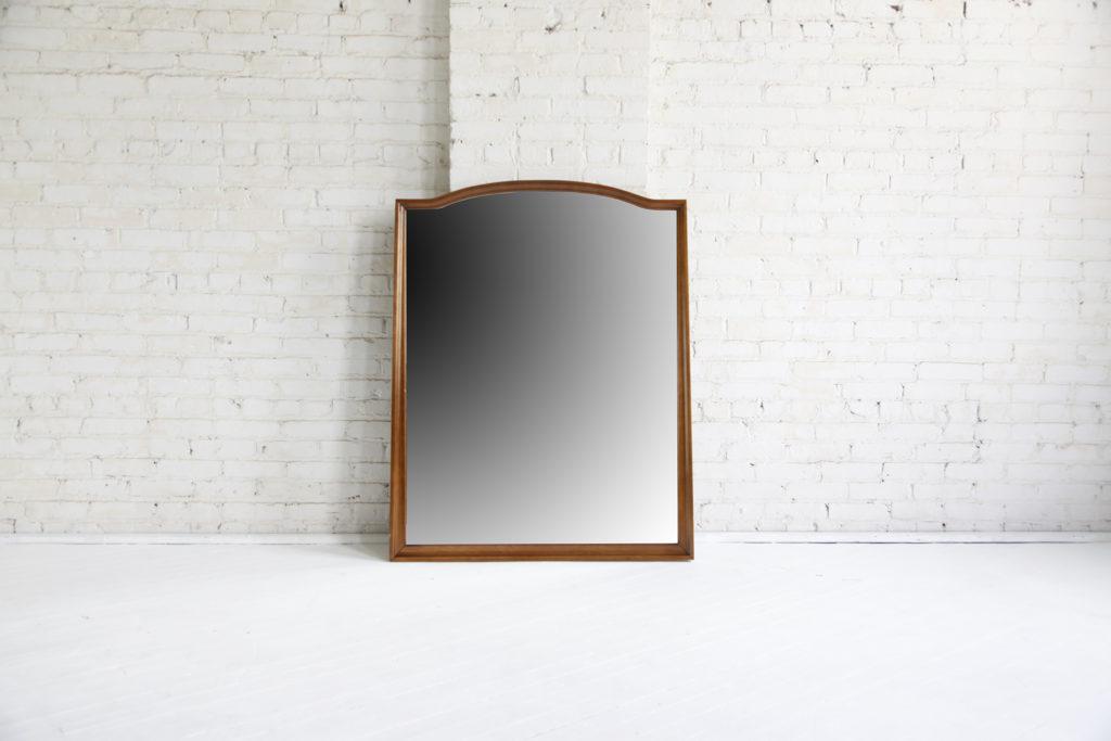 Midcentury modern wall hanging mirror by Unagusta