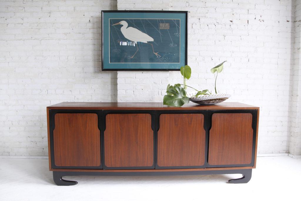 Mid century modern sculptural 9 drawer dresser