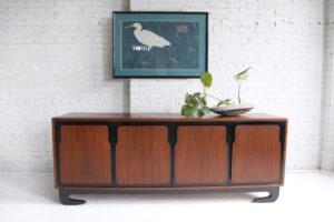 Mid century modern sculptural 9 drawer dresser made in Canada