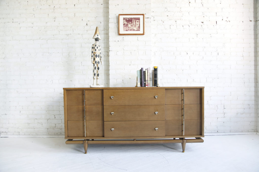 Mid century modern 9 drawer dresser by Kent Coffey