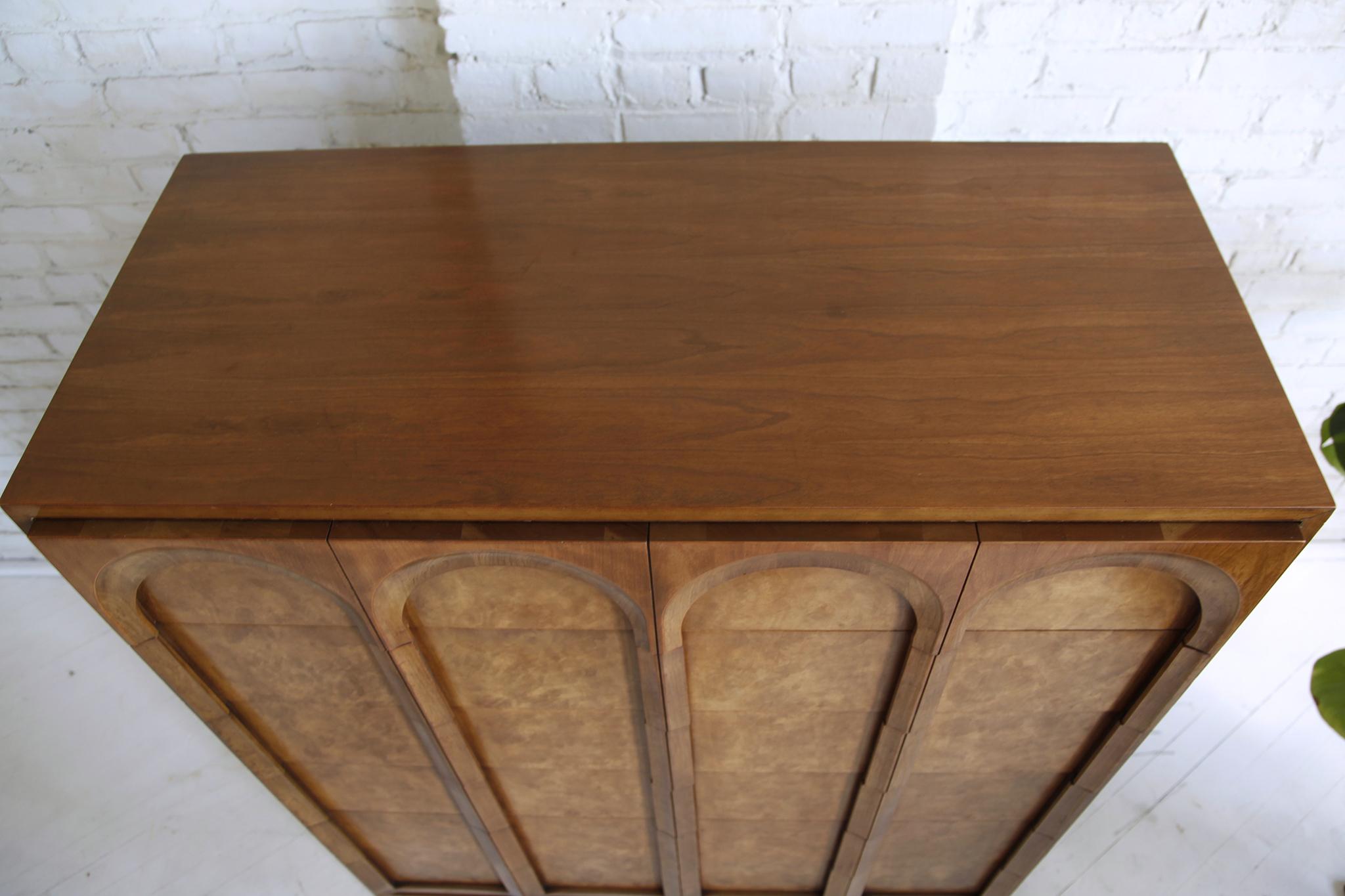 Mid Century Modern Tallboy Dresser By Thomasville