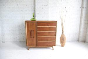 Mid century modern tallboy dresser by Unagusta