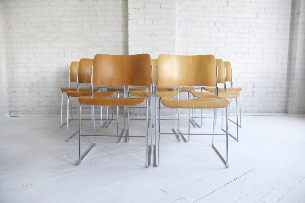 mid century modern David Rowland 40/4 stacking chairs