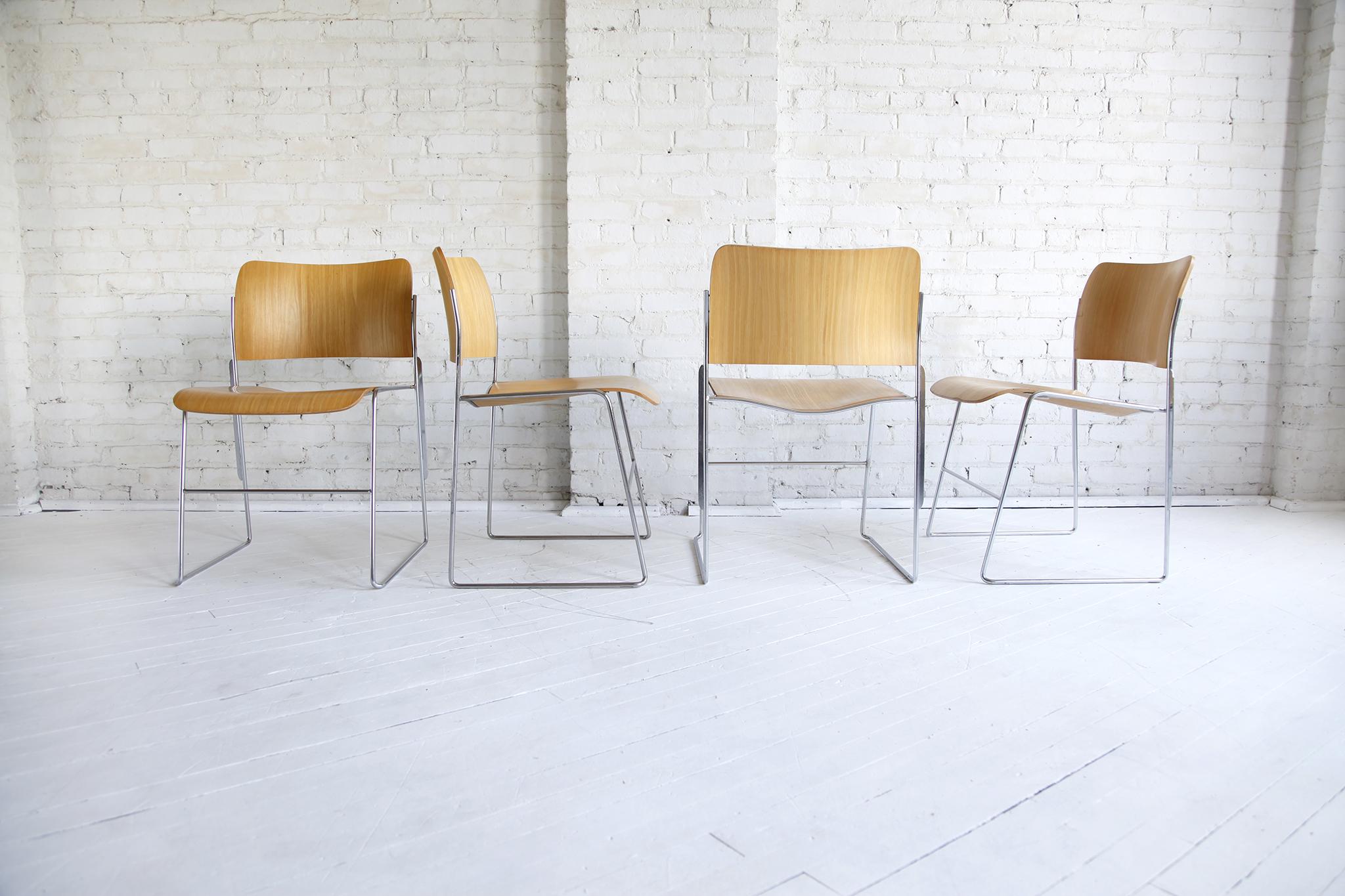 Set Of 9 Midcentury Modern David Rowland 40 4 Chairs Omasa