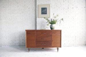 Mid century modern credenza by Bassett furniture