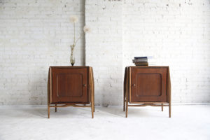 mid century modern side end tables with sculptural legs