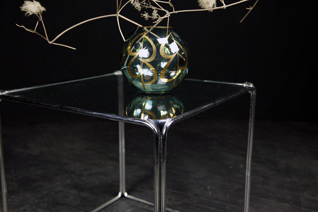 Glass Chrome Cube Coffee Table Mcm Mid Century Modern Brooklyn Ny Nyc
