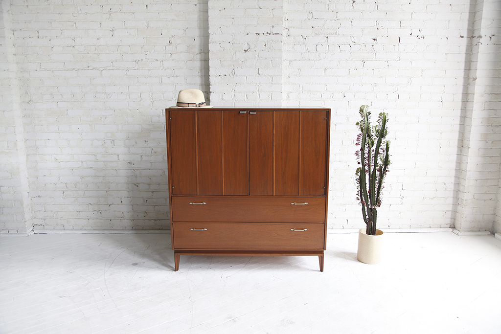 Mid century modern tall boy dresser by Red Lion mcmbkny mcm