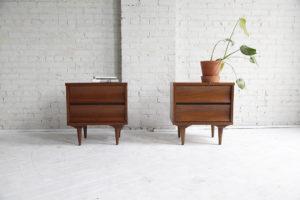 Mid century modern nightstands by Johnson Carper mcmbkny