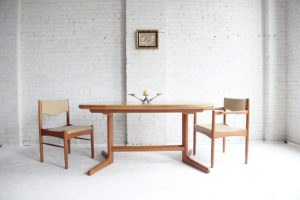 mcmbkny mid century modern teak oval dining table