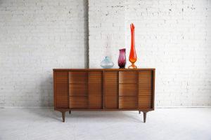 mid century modern mcm 6 drawer dresser by H.Bogen and Sun Inc