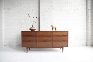 Mid century modern 6 drawer dresser bassett furniture