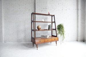 mcmbkny midcentury modern Saginaw wall unit bookcase