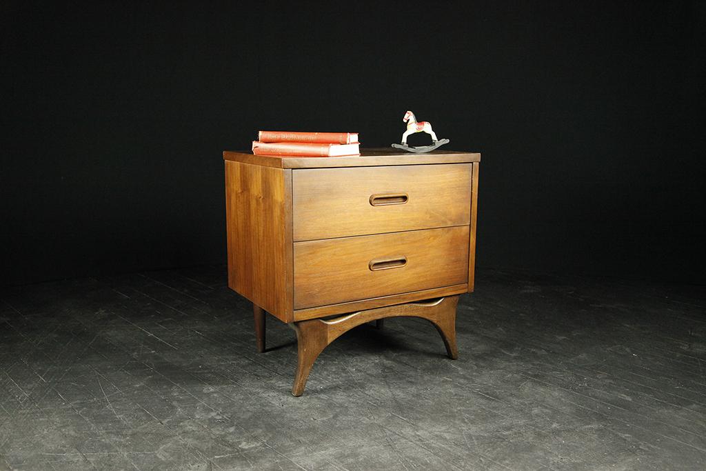 mid century modern danish style end table nightstand mcm