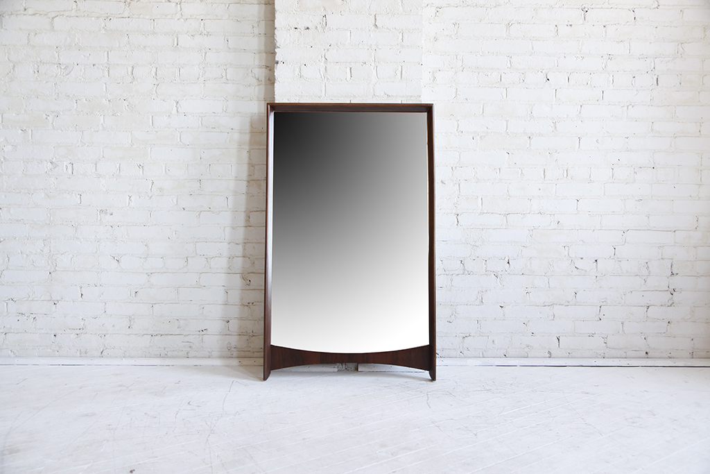 mid century modern wall hanging mirror mcm