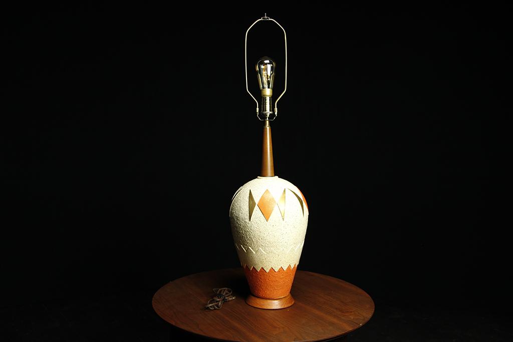 Midcentury modern large, atomic table lamp (Japan)