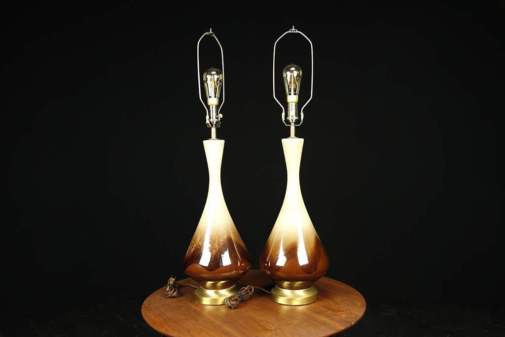 Mid century modern lamps by Royal Haeger Pottery