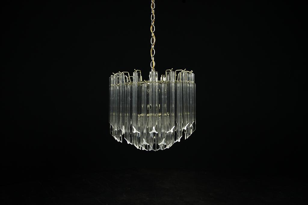 Mid century modern lucite waterfall chandelier