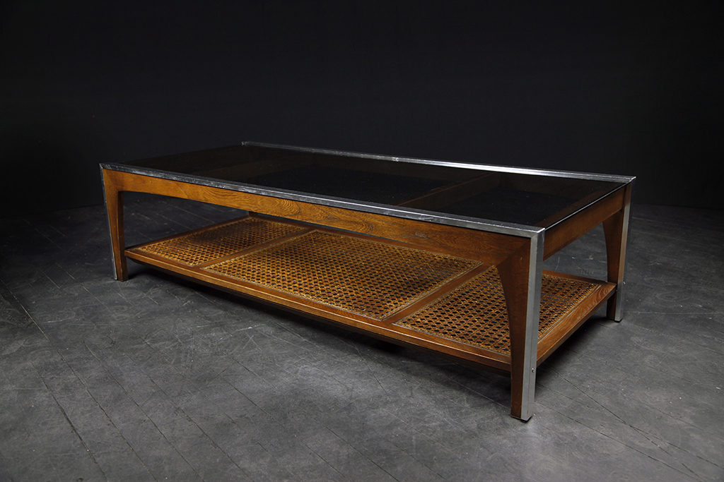 coffee table w caning omasa projects