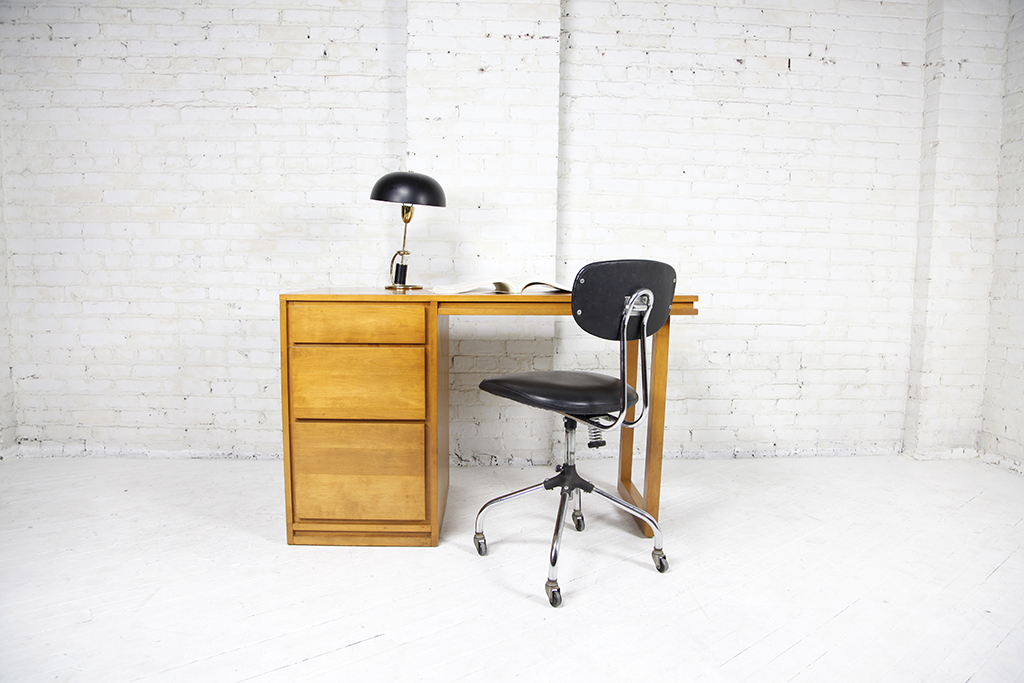 Mcm Mid Century Modern Danish Conant Ball Furniture Makers Desk Office For Near Brooklyn