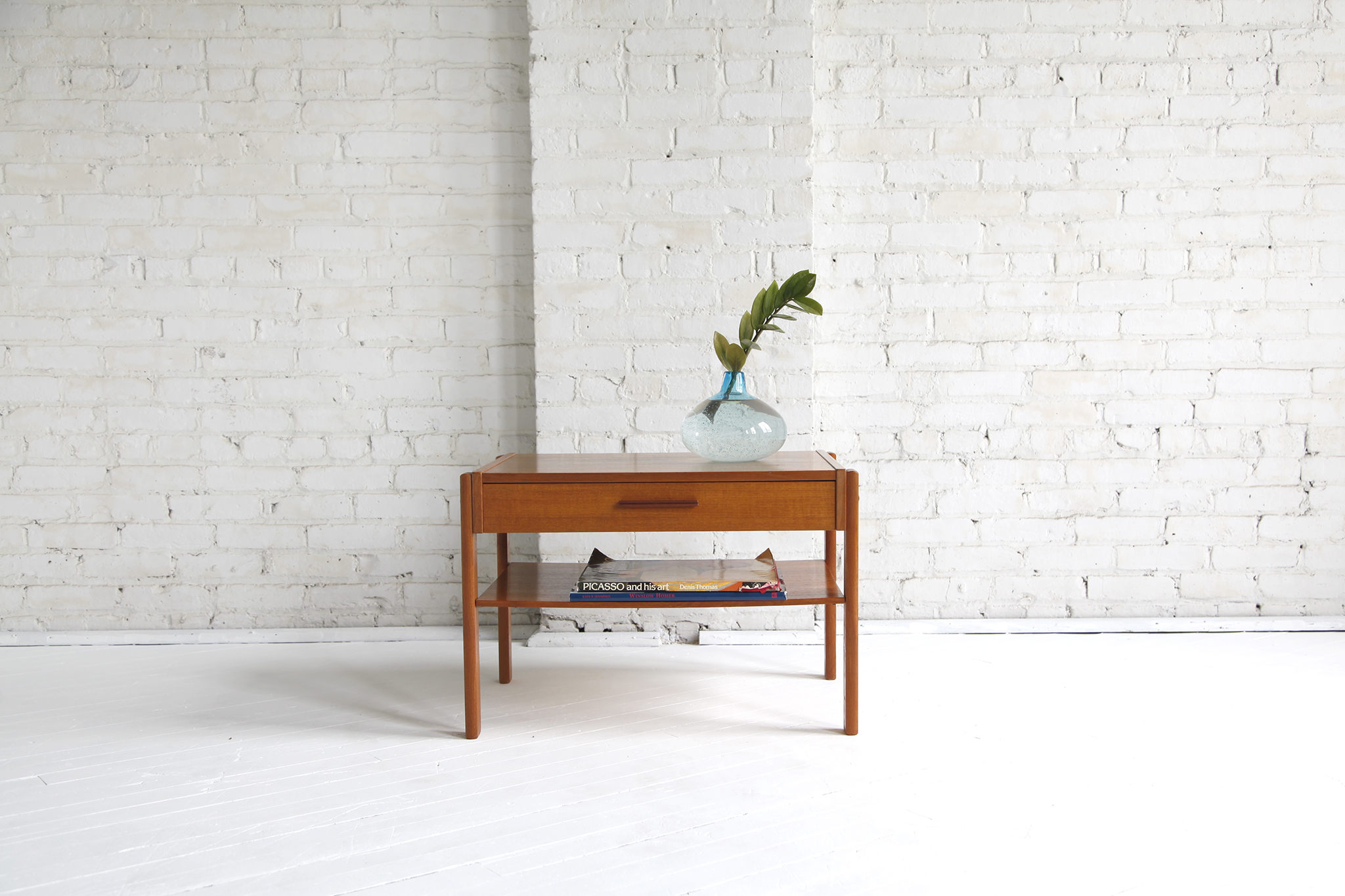 Mid Century Modern Small Danish Side Coffee Table